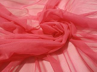 Ткань сетка стрейч коралловая