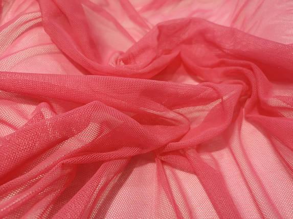 Ткань сетка стрейч коралловая, фото 2