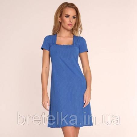Ночная сорочка De Lafense 917 синий