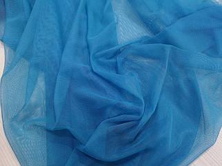Ткань сетка стрейч голубая бирюза