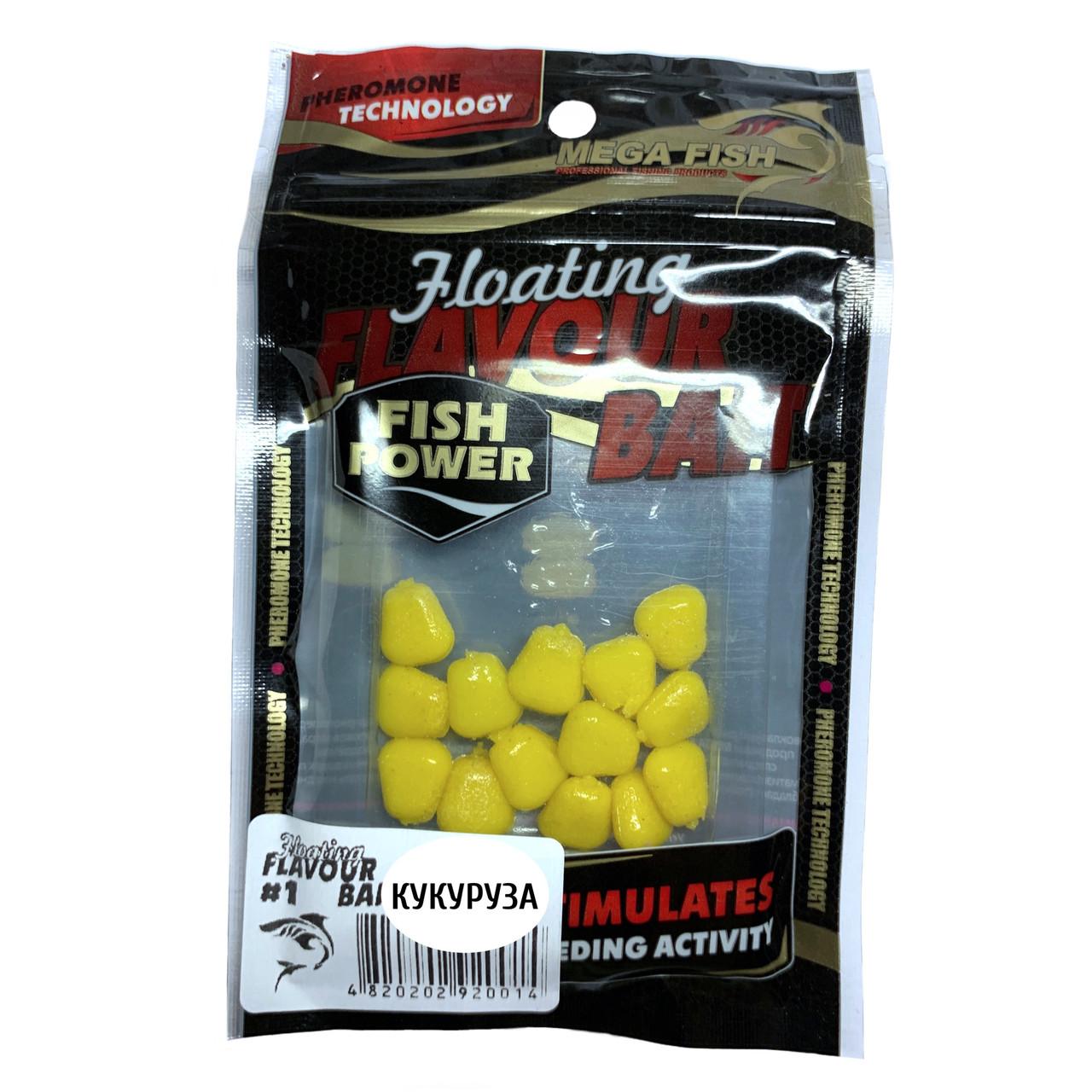 Приманки-наживки для рыбы MEGA FISH КУКУРУЗА №1 силиконовые, ароматизированные