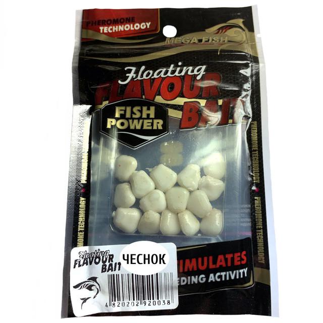 Приманки-наживки для рыбы MEGA FISH КУКУРУЗА №1 силиконовые, ароматизированные ЧЕСНОК