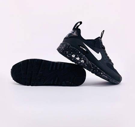 "Зимние кроссовки Nike Air Max 90 Mid Winter Sherpa ""Black"" (Черные), фото 2"