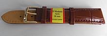 Ремінець шкіряний MODENO (ІСПАНІЯ) 20 мм, коричневий