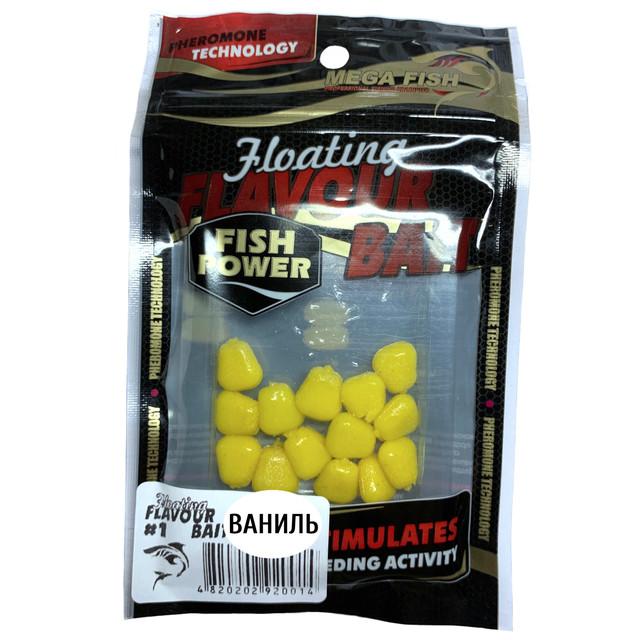 Приманки-наживки для рыбы MEGA FISH КУКУРУЗА №1 силиконовые, ароматизированные ВАНИЛЬ
