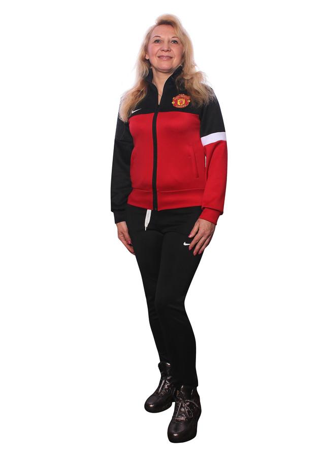 Спортивный костюм на заказ Манчестер черный с красным