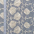 Тюль вуаль вышивка розы , фото 3