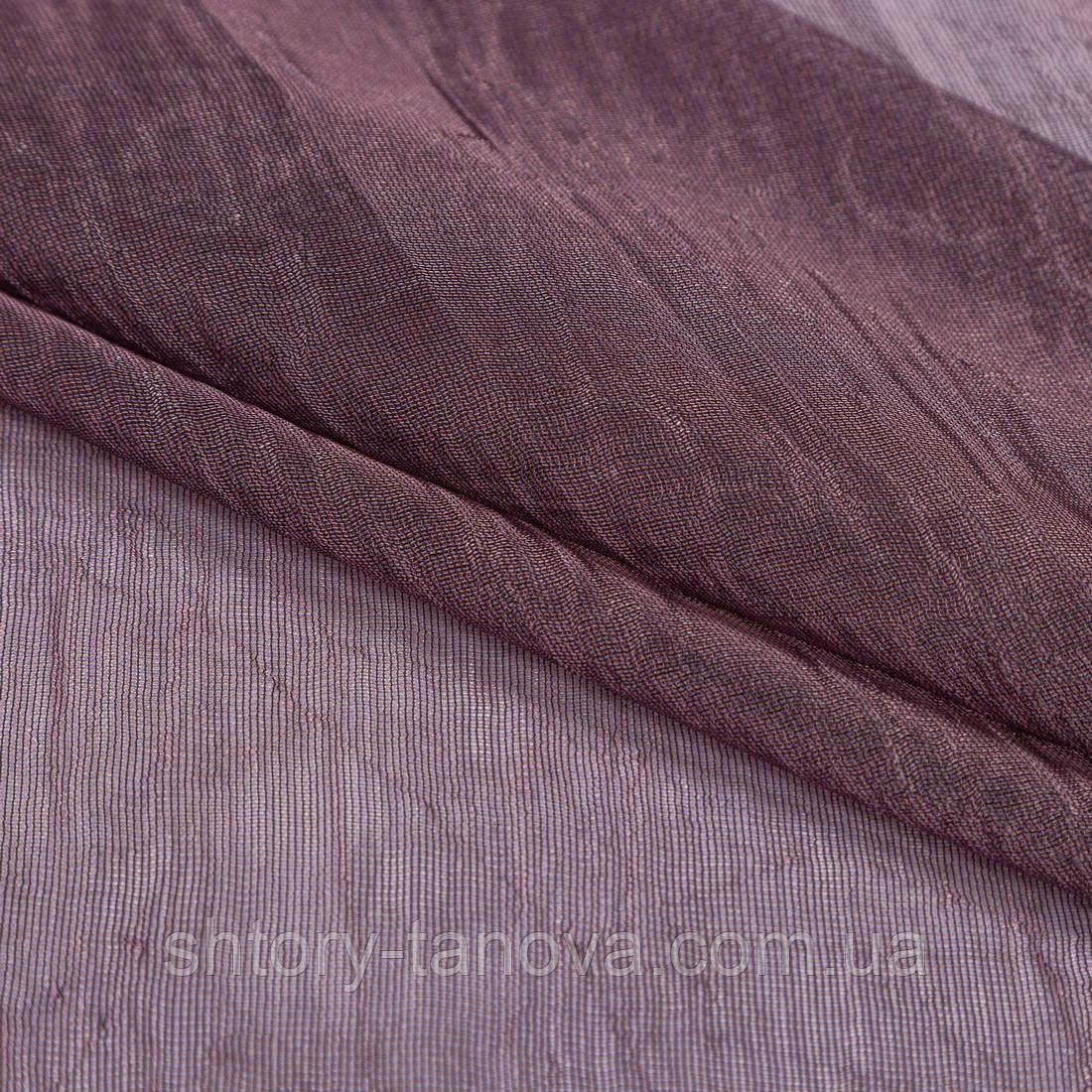 Тюль сетка с утяжелителем креш фиолет