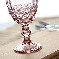 "Набор бокалов розовые 6 шт, 300 мл ""Винтаж"" ( бокалы для вина )"