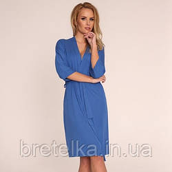 Халат женский Delafense 941 синий