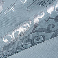 Декоративная ткань саратов- / серый, голубой, серебро