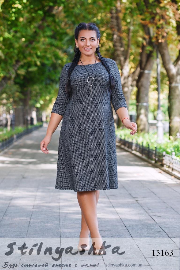 Трикотажное платье для полных соты, фото 1