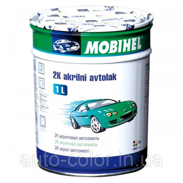 Автоемаль Mobihel 2K акрилова LA5E VW 1л. без затверджувача