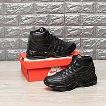 """Зимние кроссовки на меху Nike Air Max 95 Hi """"Черные"""", фото 3"""