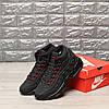 """Зимние кроссовки на меху Nike Air Max 95 Hi """"Black/Red"""" (Черные/Красные), фото 2"""