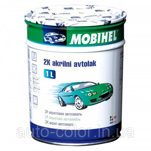 Автоэмаль Mobihel 2K акриловая 325 Светло Зеленая  1л. без отвердителя