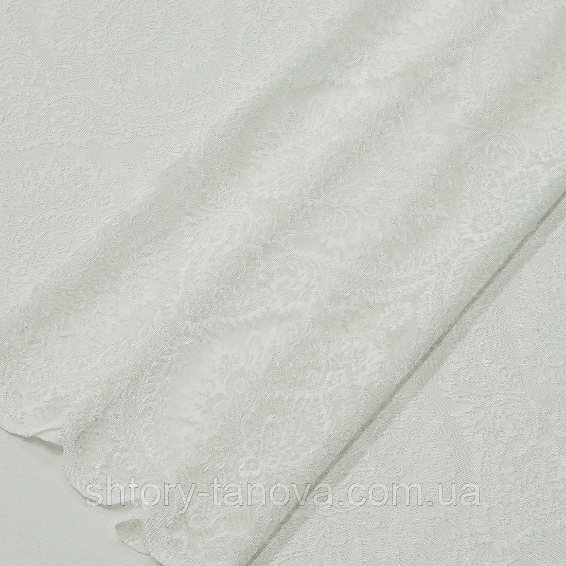 Гардинное полетно гипюр алюр молочный