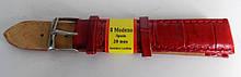 Ремінець шкіряний MODENO (ІСПАНІЯ) 20 мм, червоний