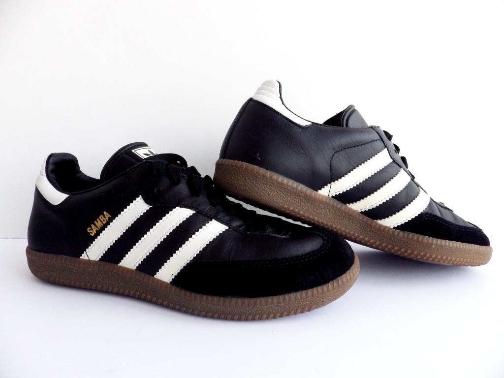 Кроссовки Adidas Samba 100% Оригинал р-р 38 (24 см)  (б/у,сток) original адидас самба чёрные