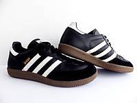 Кроссовки Adidas Samba 100% Оригинал р-р 38 (24 см)  (б/у,сток) original адидас самба чёрные, фото 1