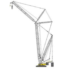 Гусеничный кран грузоподъемность: 750т, длина стрелы:24-84м
