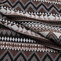 Гобелен орнамент - коричневый,черный,молочный