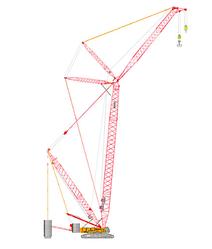 Гусеничный кран грузоподъемность: 500т, длина стрелы:24-84м