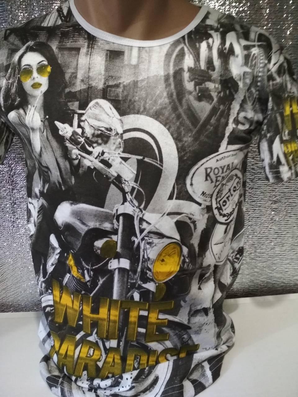 Мужская футболка двухсторонняя Турция опт р. M, L, XL, XXL
