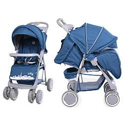 Коляска прогулочная Babycare City BC-5201  Blue в льне