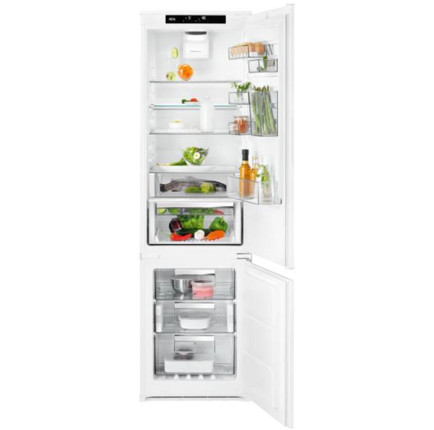 Вбудовуваний холодильник з морозильником AEG SCE81935TS