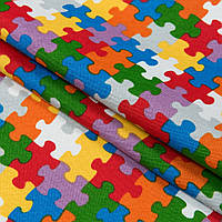 Декоративная ткань пазлы /puzzle