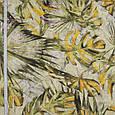 Декоративная ткань осенние листья желтый,т.зеленый , фото 2