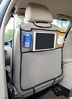 Защитный чехол на спинку сиденья автомобиля с карманами 50*80см 1 штука (04185)