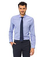 Голубая мужская рубашка LC Waikiki / ЛС Вайкики в голубую и белую точечку