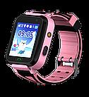 Детские водонепроницаемые GPS часы MYOX МХ-16GW розовые (камера+фонарик), фото 8