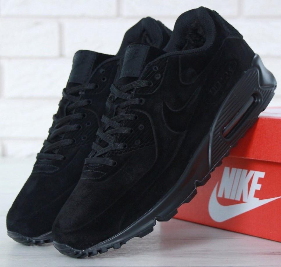 1e5d2b1d Зимние мужские кроссовки Nike Air Max 90' VT Tweed С МЕХОМ -  Интернет-магазин