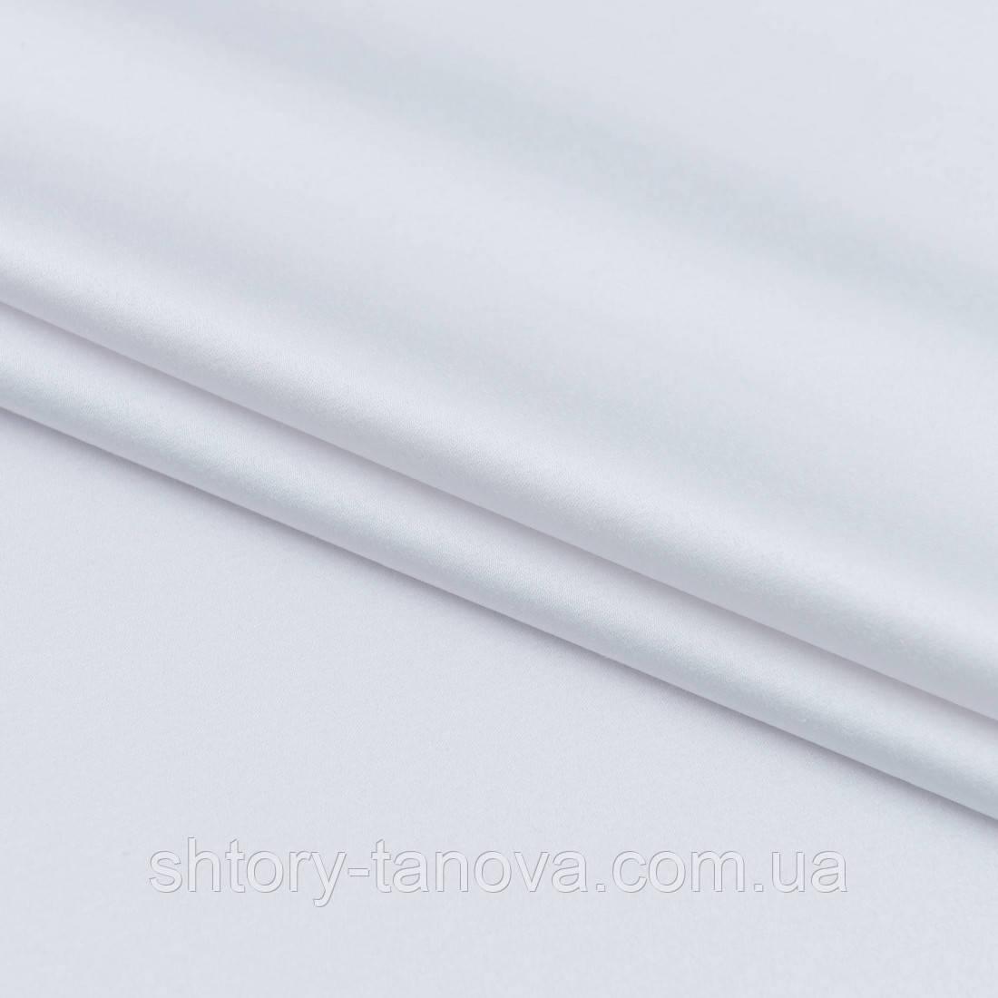 Декоративний сатин прада білий