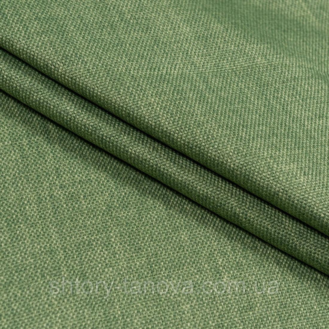 Тканина блекаут від сонця в спальню, дитячу, зал, матеріал на римські штори blackout 2,8 м зелений