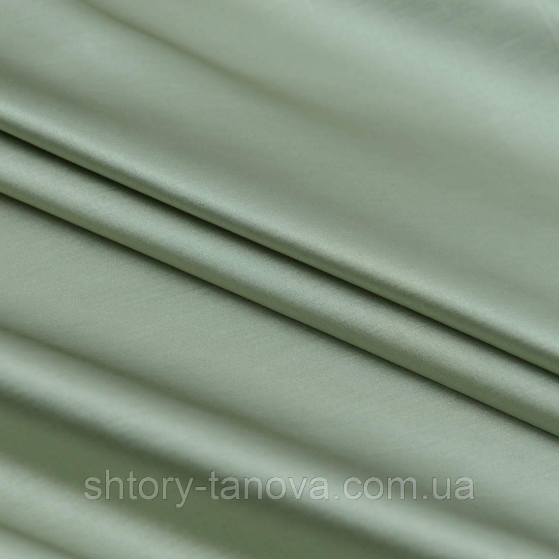 Декоративний сатин бравия зелена оливка