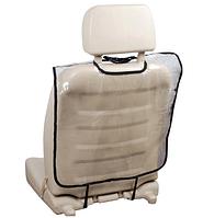 Защитный чехол на спинку переднего сиденья автомобиля 50*80 см Прозрачный 1 штука