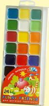 Акварель медовая Гамма-Н Веселые друзья 24 цвета