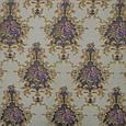 Жаккард прованс/ песок т.беж-серый,цветы фиолет , фото 2