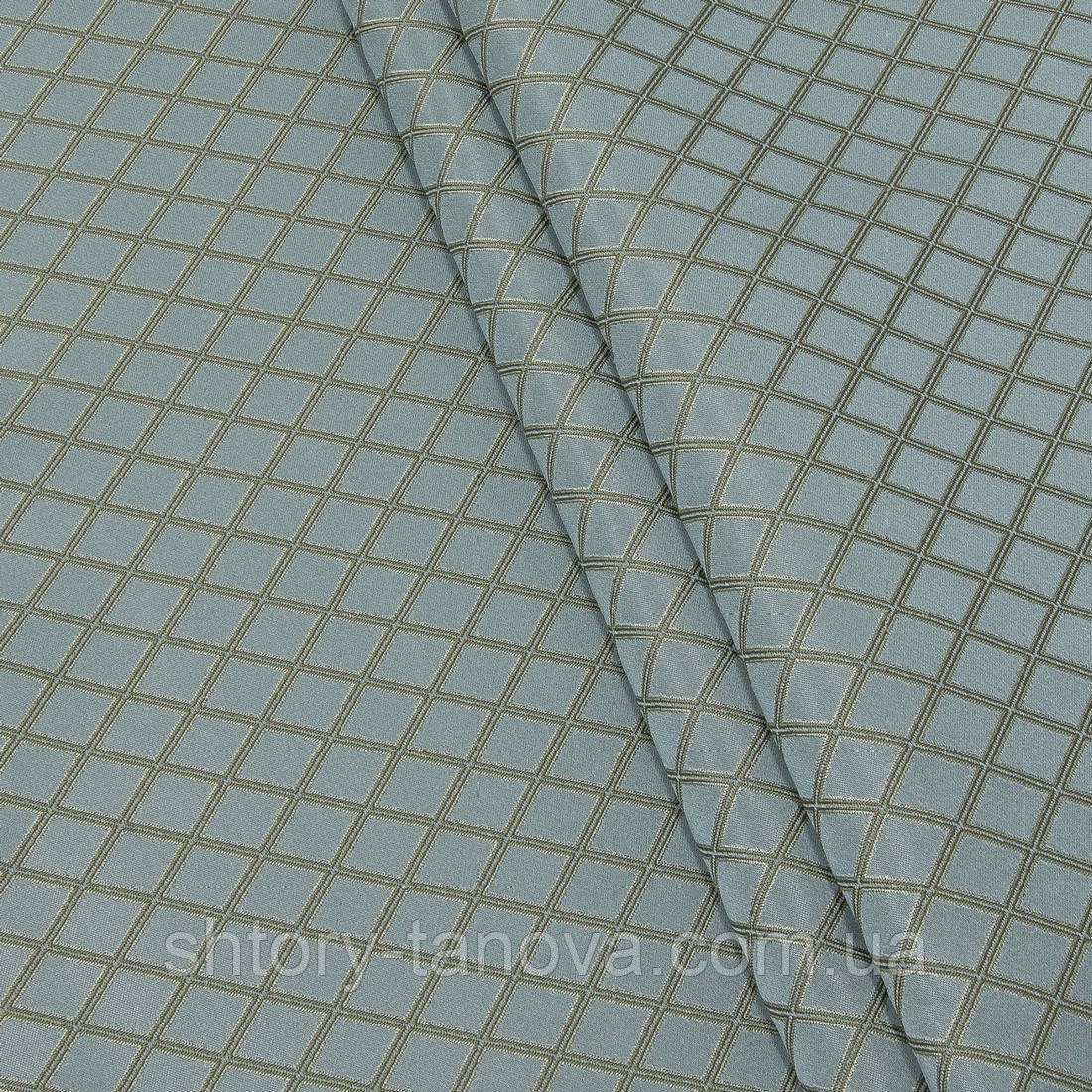 Жаккард рио-/rio ромб лазурь,беж