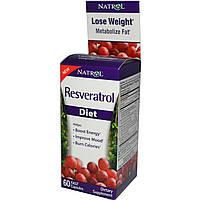 Ресвератрол для похудения, Natrol, 60 капсул