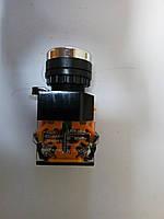 Кнопка врезная без подсветки зеленая 10A 660V ST 889 G, фото 1