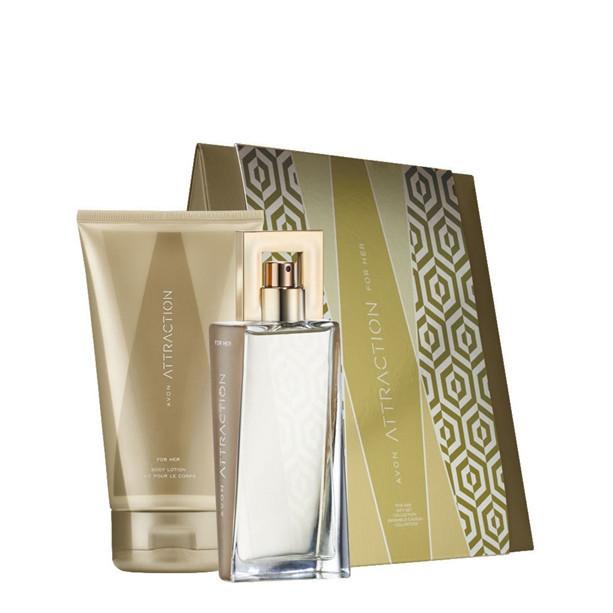 Женский парфюмерно-косметический набор Avon Attraction 2в1 Эйвон. Древесно-фруктовый аромат