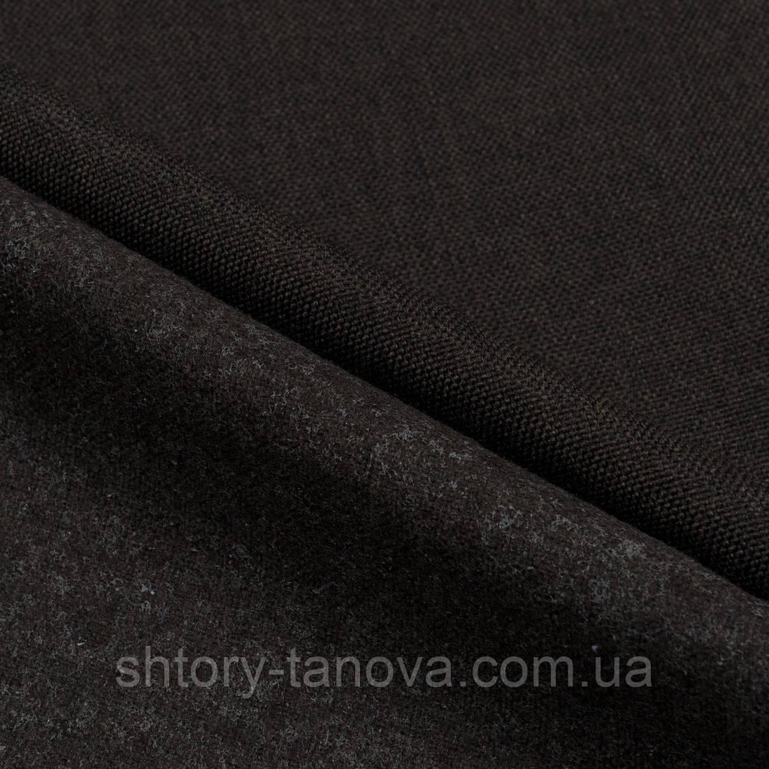 Декоративная рогожка китин т.коричневый
