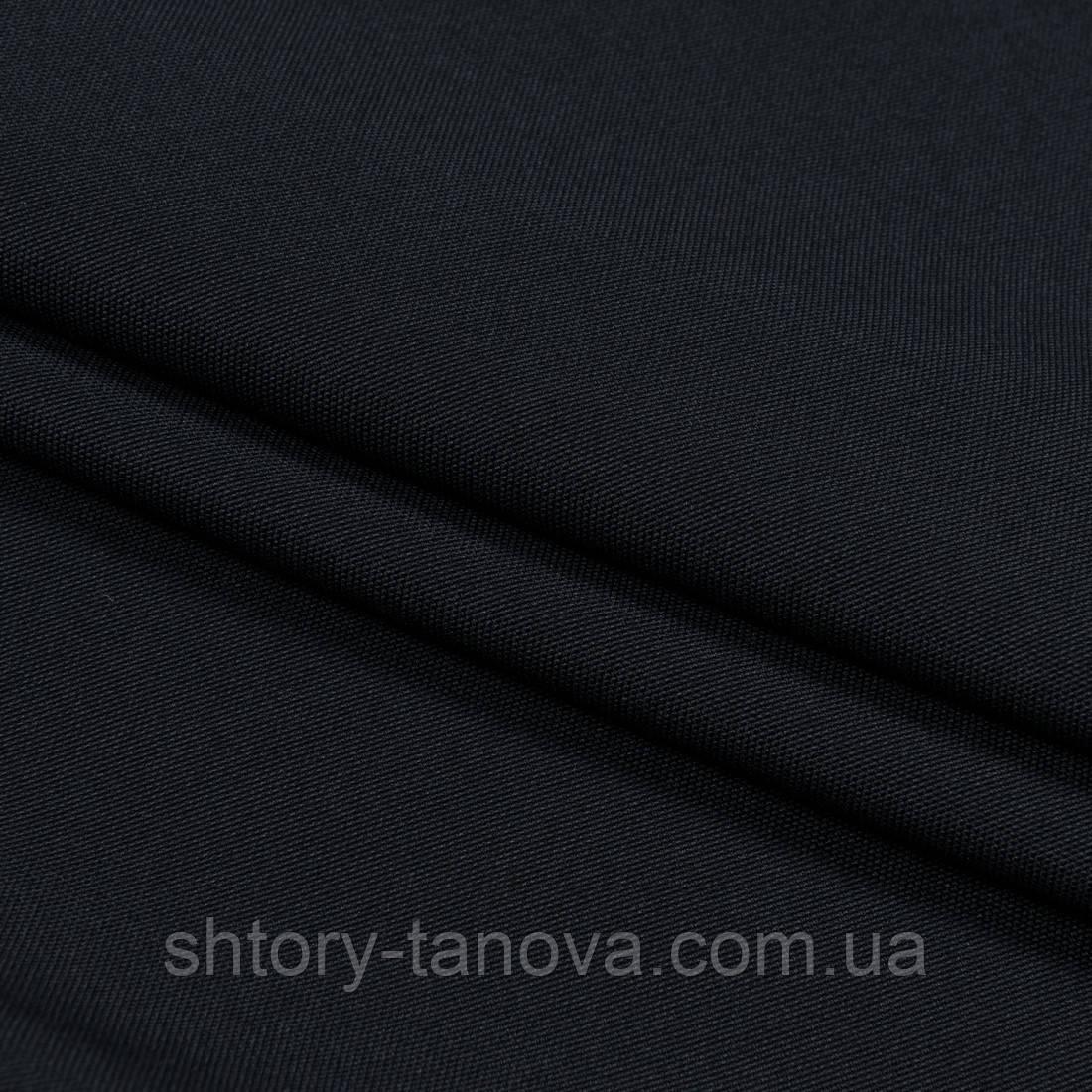 Декоративна тканина щільна рогожка чорний