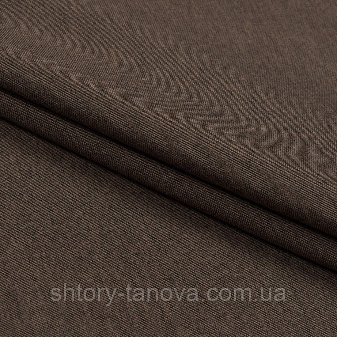 Декоративна тканина щільна рогожка кора дуба