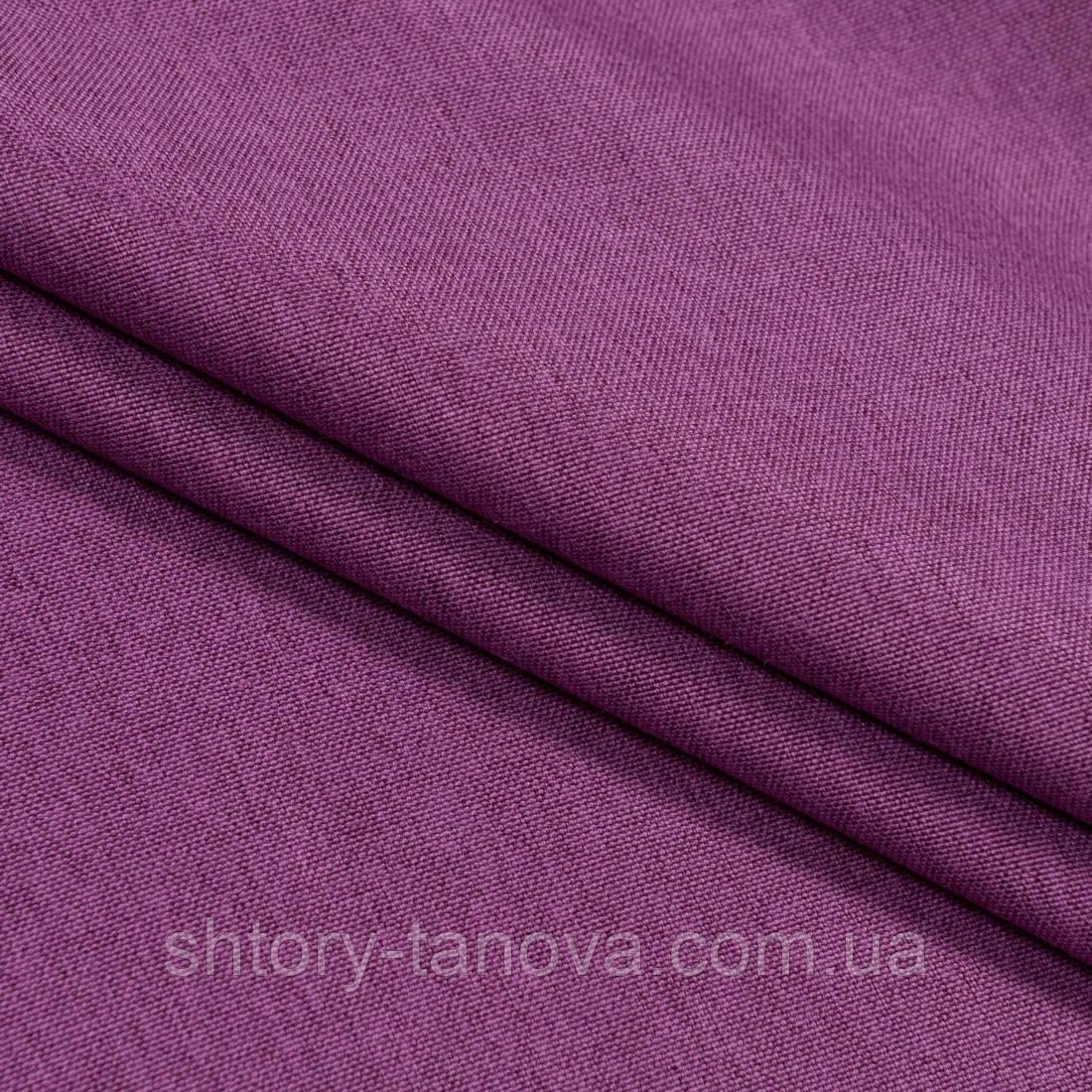 Декоративна тканина щільна рогожка фуксія